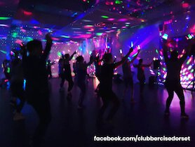 Clubbercise class in hall - Ricky Clubbercise.
